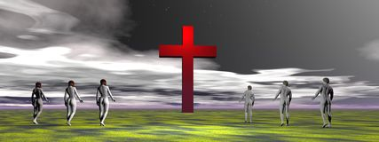 Cross red Stock Photography