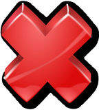 Cross, Red, Alert, Error, Incorrect Royalty Free Stock Images