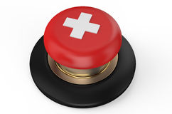 Cross red button Royalty Free Stock Photos