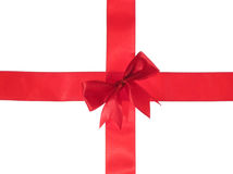 Cross red ribbon Stock Image