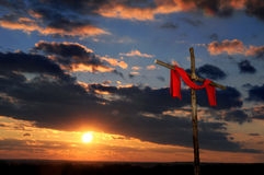 Cross With Red Tunic Stock Images
