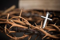 Cross with religion background royalty free stock image