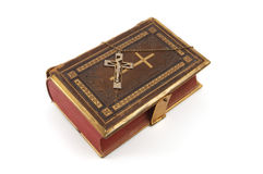 Cross on Religious Book Stock Photography