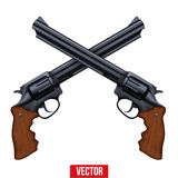Cross of Revolvers Stock Photo
