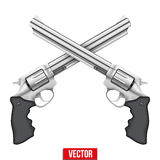 Cross of Revolvers Royalty Free Stock Photo