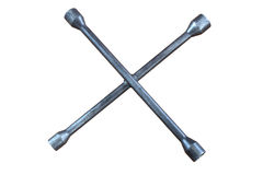 Cross rim wrench. On white background Royalty Free Stock Images