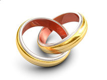 Cross rings wedding Royalty Free Stock Photos