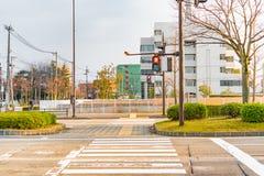 Cross road in city Stock Image