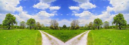 cross road krajobrazu lato zdjęcie stock
