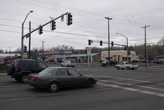 CROSS ROAD 16TH AVENUE AND 8TH STREET. Lewiston /Idaho /USA_ 30 December  2015 _Cross road 16th avenue and 8th street Royalty Free Stock Photos
