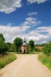 Cross roads, rural chapel Royalty Free Stock Images
