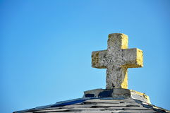 Cross from rock Royalty Free Stock Photo