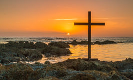 Cross On Rocks Stock Photos