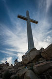 Cross and rocks at Mount Rubidoux Park, in Riverside  Royalty Free Stock Photo