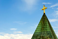 The cross on the roof Royalty Free Stock Photo