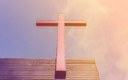The Cross. On the roof of the Church royalty free stock images