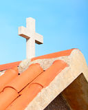 Cross on the roof Royalty Free Stock Image