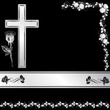 Cross with rose royalty free stock images