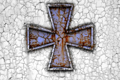 Cross on a rust metall Stock Image