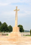Cross of Sacrifice Bedford House Cemetery Royalty Free Stock Photo