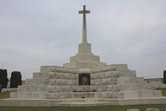 Cross of Sacrifice, Tyne Cot Cemetery Stock Photos