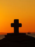 Cross at sailboat  Royalty Free Stock Image
