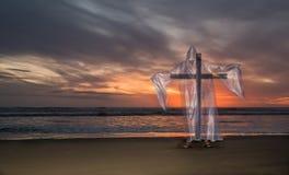 Cross of Salvation Beach Sunset Royalty Free Stock Image