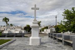 Cross on Santa Ifigenia cemetery, Santiago de Cuba Royalty Free Stock Photography