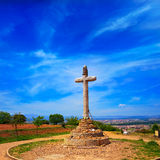 Cross of Santo Toribio Astorga way of Saint James Stock Image