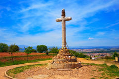 Cross of Santo Toribio Astorga way of Saint James Royalty Free Stock Images