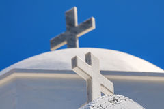 Cross on Santorini Royalty Free Stock Image