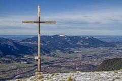 Cross on the Schoenberg Stock Photo