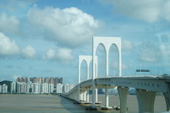 Cross Sea Bridge Royalty Free Stock Images