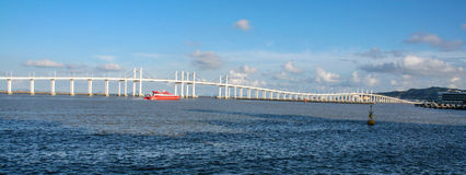 Cross-sea bridge in macao Stock Photography