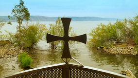 Cross Sea of Galilee Royalty Free Stock Images