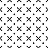 Cross seamless patten background, vector endless geometric pattern. Black and white colors, vector illustration