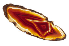 Cross section of agate Stock Image