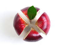 Cross section apple Stock Images