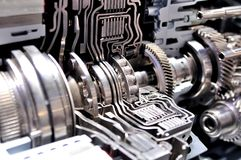 Cross section of an automatic transmission. Cross section of a hybrid car automatic transmission stock photography