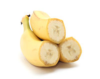 Cross Section of bananas Royalty Free Stock Photography