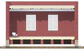 Cross section of brick house Stock Images