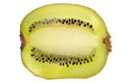 Cross section through centre of kiwi Stock Photography