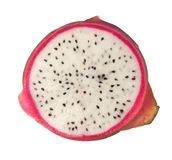 Cross section of a dragonfruit Stock Photography