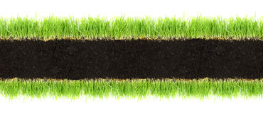Cross-section frame of soil and grass Royalty Free Stock Images
