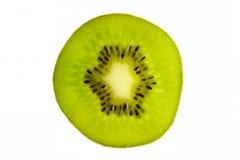 Cross section of fresh kiwi fruit isolated on white Stock Images