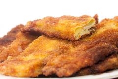 The cross section of fried zucchini served on a plate Stock Image