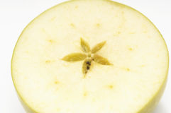 Cross Section Of Granny Smith Apple Royalty Free Stock Image