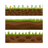 Cross section ground slice isolated grownd piece nature outdoor ecology underground and freestanding render garden Royalty Free Stock Image