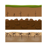 Cross section ground slice isolated grownd piece nature outdoor ecology underground and freestanding render garden Royalty Free Stock Photos
