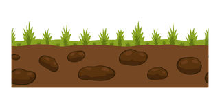 Cross section ground slice isolated some piece nature outdoor ecology underground and freestanding render garden natural. Geologist earth vector illustration Stock Images